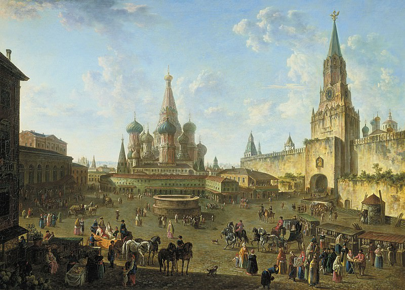 Красная площадь в Москве 1801. часть 1 - русских и советских худ Русские и советские художники