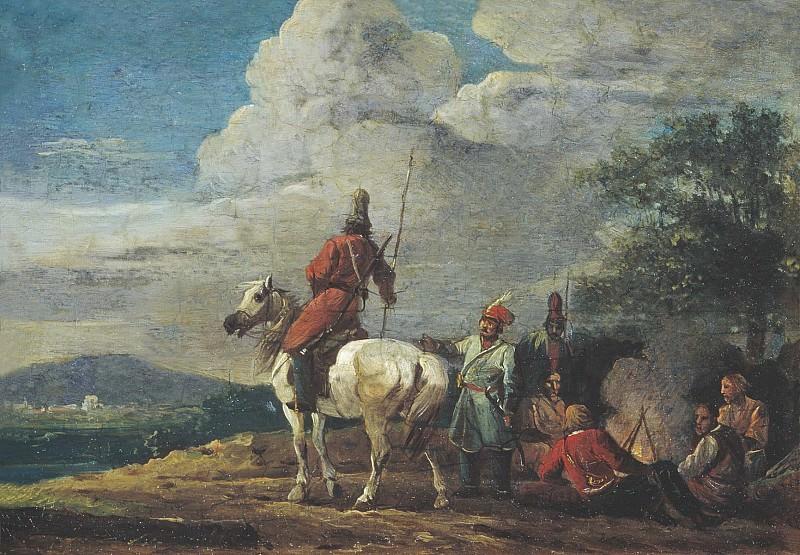 Ночной бивуак казаков 1809. часть 1 - русских и советских худ Русские и советские художники