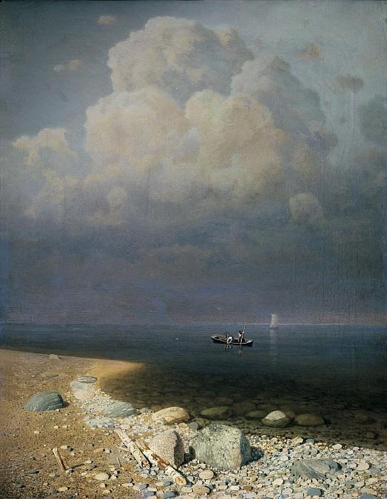 Ладожское озеро 1870 холст масло 795х625 см. часть 1 - русских и советских худ Русские и советские художники
