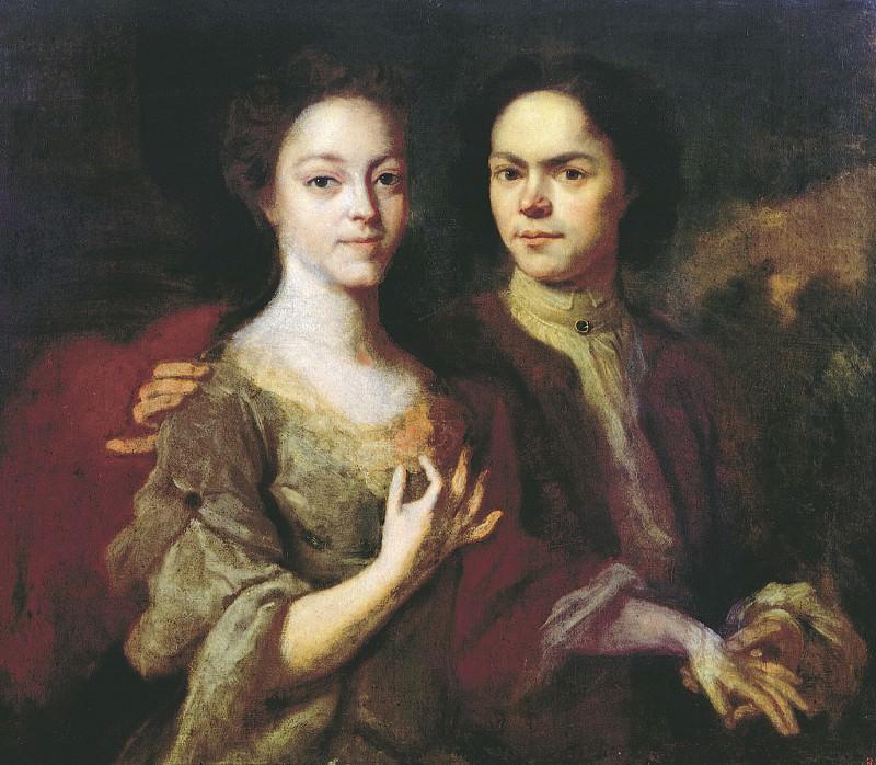 Автопортрет с женой Ириной Степановной 1729. часть 1 - русских и советских худ Русские и советские художники