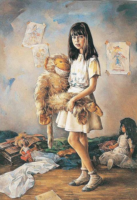 Новая игрушка Холст масло 173 х 120 см 1992 г. часть 1 - русских и советских худ Русские и советские художники