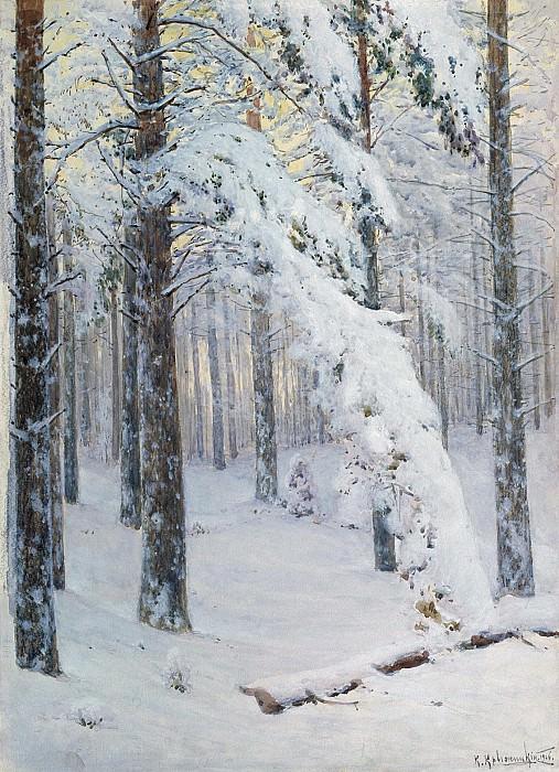 Лес зимой Холст масло. часть 1 - русских и советских худ Русские и советские художники