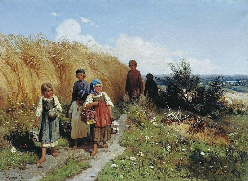 Жнитво 1878 Холст масло. часть 1 - Russian and soviet artists Русские и советские художники