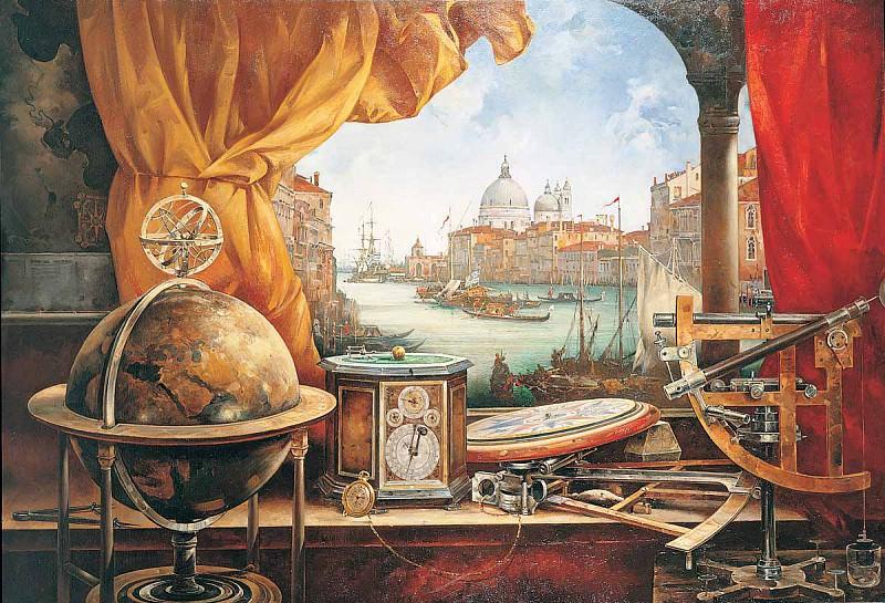 Натюрморт с морскими приборами Холст масло 160 х 230 см 1997 г. часть 1 - русских и советских худ Русские и советские художники