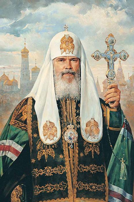Патриарх Московский и всея Руси Алексий II Холст масло 135 х 100 см 1996 г. часть 1 - русских и советских худ Русские и советские художники