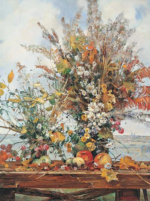 Осенний букет Холст масло 100 х 80 см 1996 г. часть 1 - русских и советских худ Русские и советские художники
