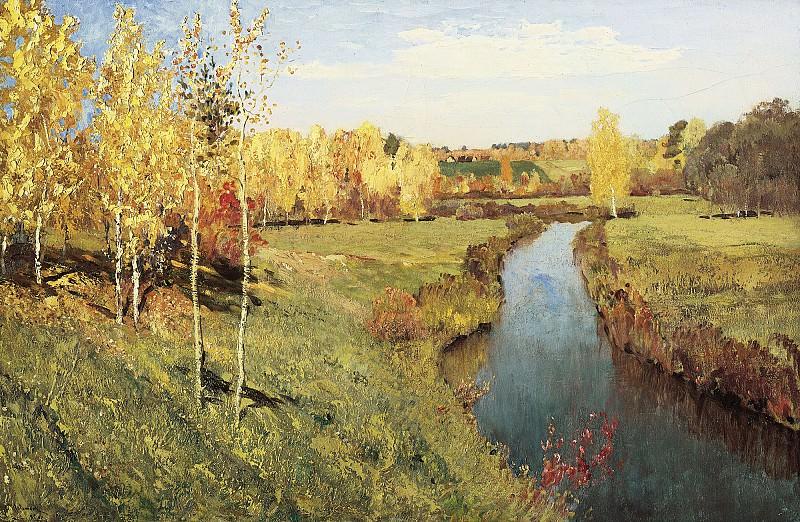 Золотая осень 1895 холст масло 82х126 см. часть 1 - русских и советских худ Русские и советские художники