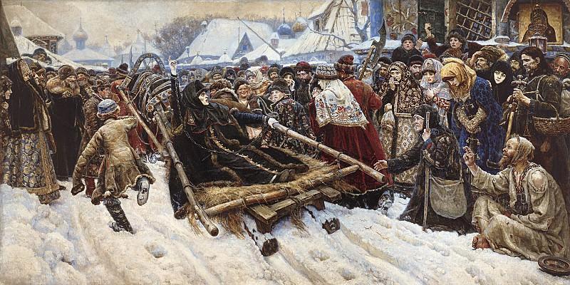 Боярыня Морозова 1887 Холст масло 304х588 см. часть 1 - русских и советских худ Русские и советские художники