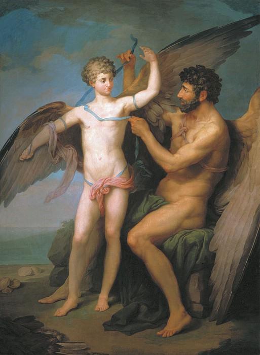 Дедал привязывает крылья Икару 1777. часть 1 - русских и советских худ Русские и советские художники