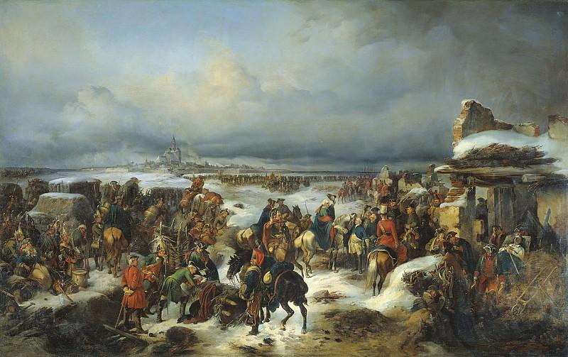 Взятие крепости Кольберг 1852 Холст масло 226х352 см. часть 1 - русских и советских худ Русские и советские художники