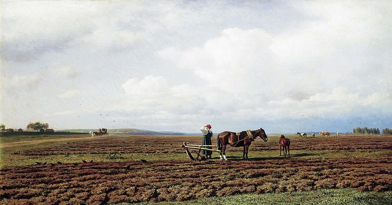 На пашне 1872 холст масло 71х131 см. часть 1 - русских и советских худ Русские и советские художники