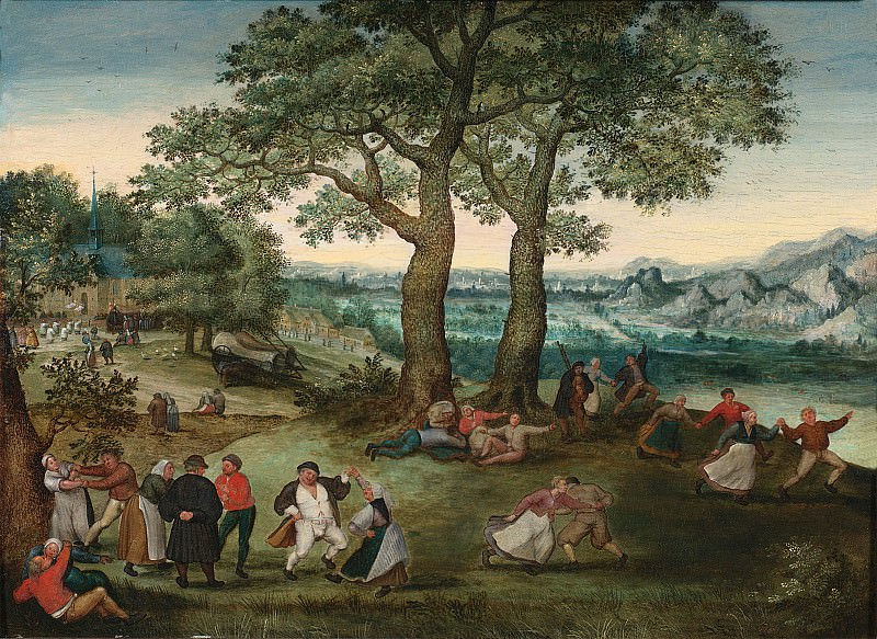Lucas van Valckenborch A Village Kermesse 1644 20. часть 4 -- European art Европейская живопись