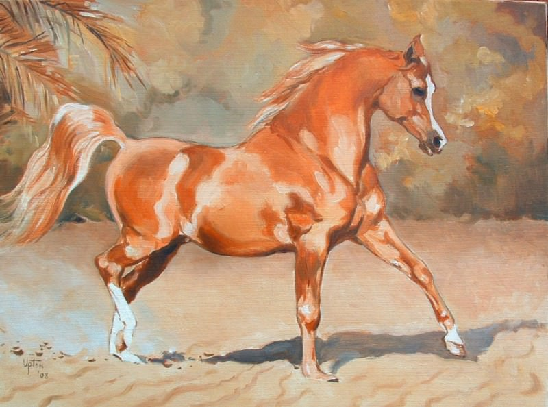 Peter Upton Showing the Flag Trotting Chestnut Stallion 106479 3606. часть 4 -- European art Европейская живопись