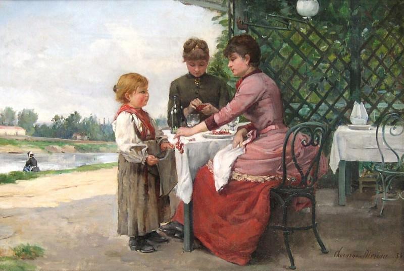 Paul Charles CHOCARNE MOREAU La ginguette en amont de Giverny 97619 617. часть 4 - европейского искусства Европейская живопись