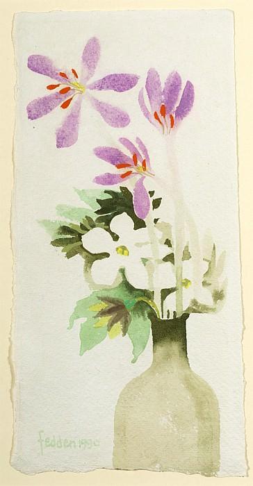 Mary Fedden Autumn crocuses in a bottle 98160 20. часть 4 -- European art Европейская живопись