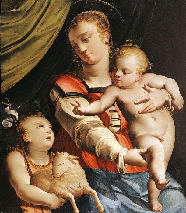 Luca Cambiaso The Virgin and Child with the Young Saint John the Baptist 16059 203. часть 4 -- European art Европейская живопись