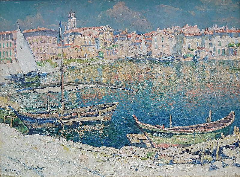 PAUL LEDUC Vue de Martigues Cote d'Azur France 89452 1184. часть 4 -- European art Европейская живопись