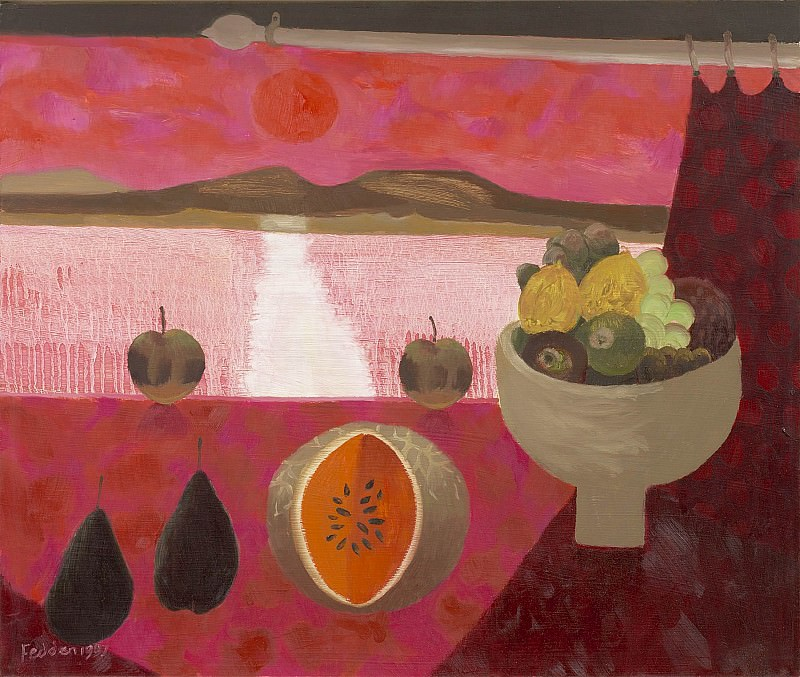 Mary Fedden Still life with fruit 98364 20. часть 4 -- European art Европейская живопись