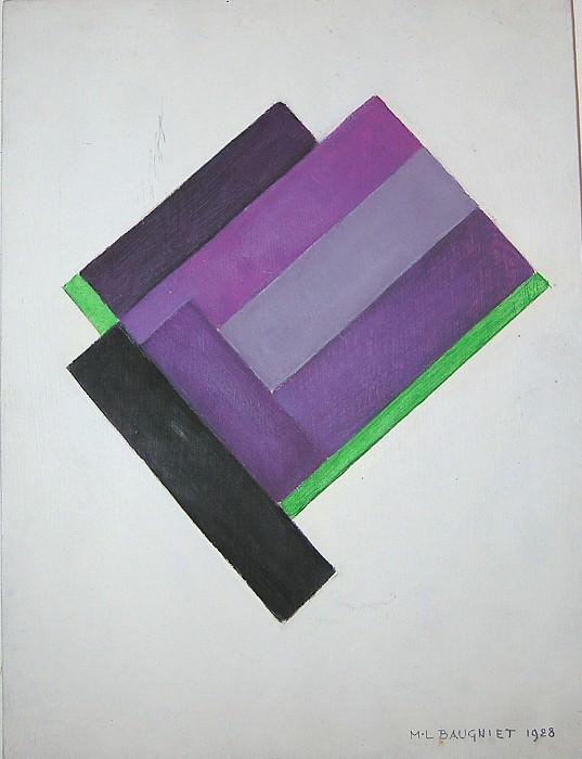 Marcel Louis Baugniet Abstract Painting 26638 1945. часть 4 - европейского искусства Европейская живопись