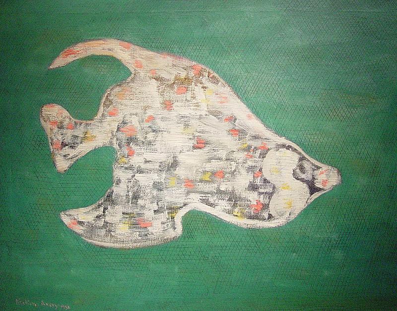 Milton Avery Strange Fish 89948 1184. часть 4 - европейского искусства Европейская живопись