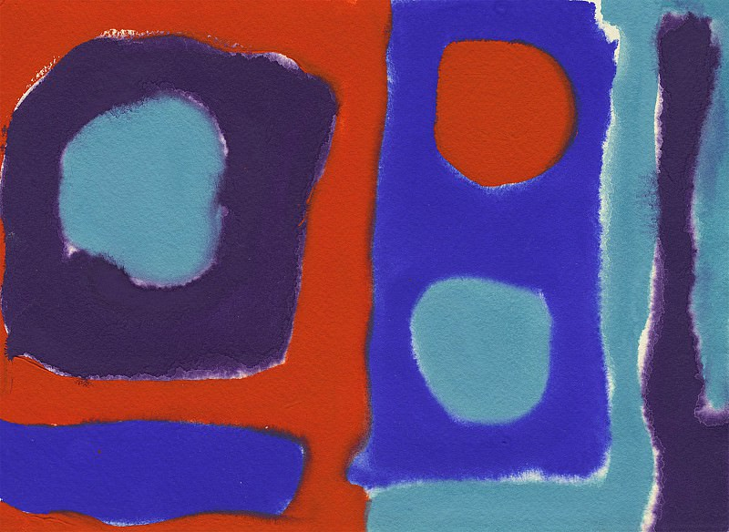 Patrick Heron Three discs Scarlet in blues 98719 20. часть 4 -- European art Европейская живопись