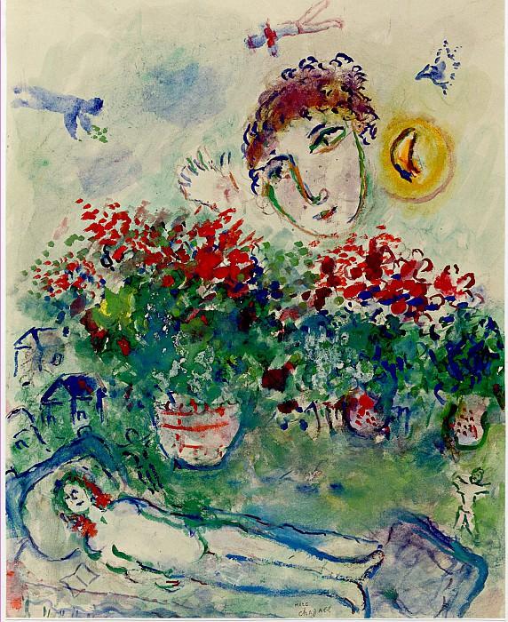 Marc CHAGALL Bouquet et nu 40788 1146. часть 4 -- European art Европейская живопись