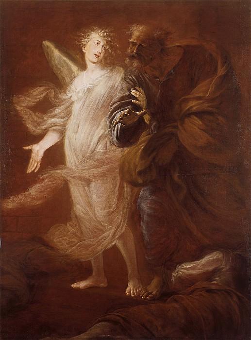 Pietro Ricchi Saint Peter Delivered from Prison by the Angel 16912 203. часть 4 -- European art Европейская живопись