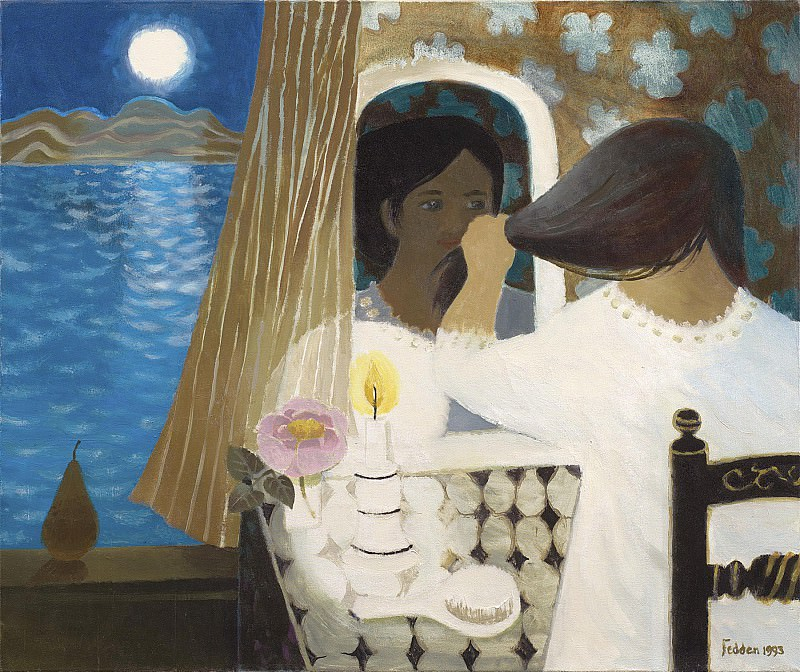 Mary Fedden Woman by a window 98399 20. часть 4 -- European art Европейская живопись