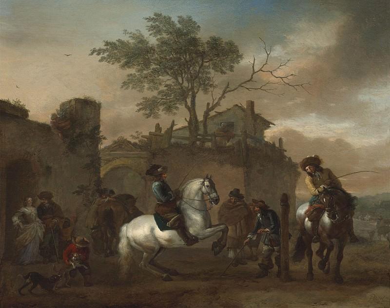 Philips Wouwerman The riding school 42089 20. часть 4 -- European art Европейская живопись