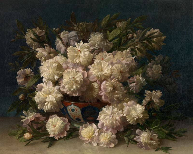 Louis VERBOECKHOVEN A Bouquet of Peonies 90040 121. часть 4 -- European art Европейская живопись