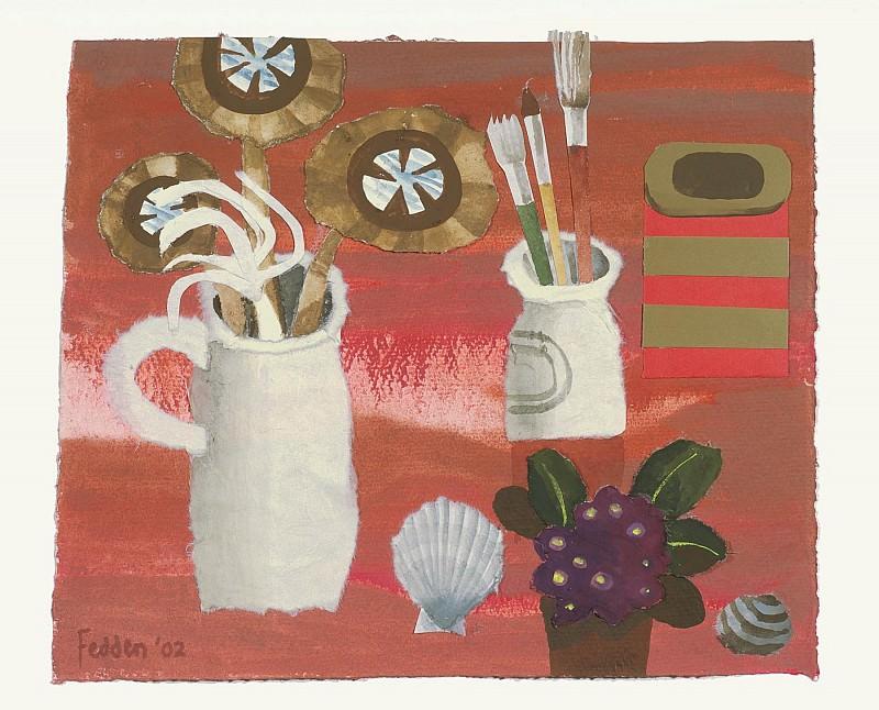 Mary Fedden Flowers and brushes 98279 20. часть 4 - европейского искусства Европейская живопись