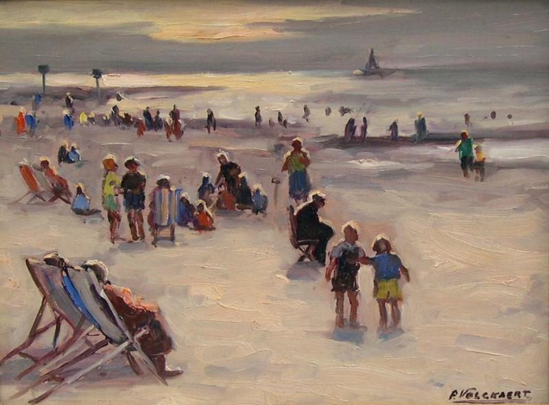 Piet VOLCKAERT Beach Scene 32070 617. часть 4 -- European art Европейская живопись