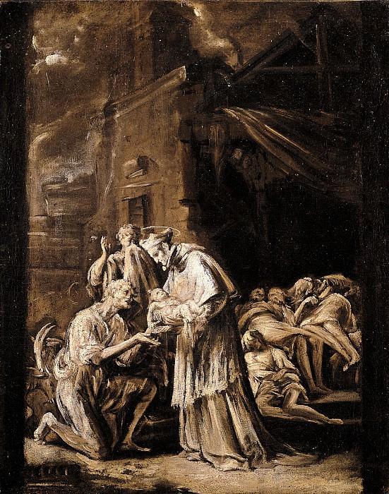 Orazio Borgianni Saint Charles Borromeo Visiting the Plague Stricken 16208 203. часть 4 -- European art Европейская живопись
