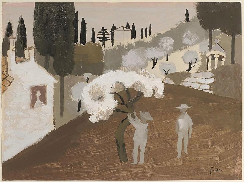 Mary Fedden Florentine garden 98260 20. часть 4 -- European art Европейская живопись