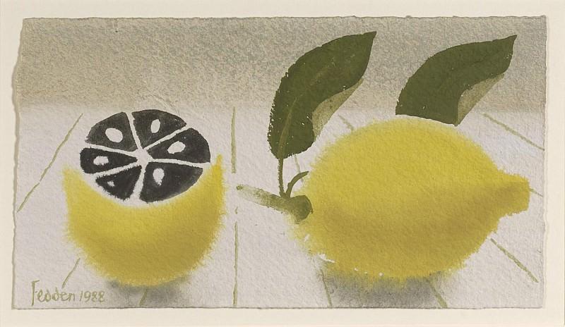 Mary Fedden Still life with lemons 98366 20. часть 4 - европейского искусства Европейская живопись