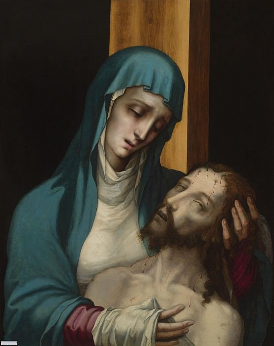 "LUIS DE MORALES 1586 ""The Pietà"" 32303 316. часть 4 -- European art Европейская живопись"