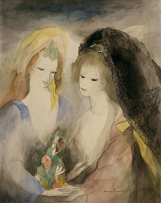 Marie LAURENCIN Jeunes filles au bouquet 32753 3449. часть 4 -- European art Европейская живопись