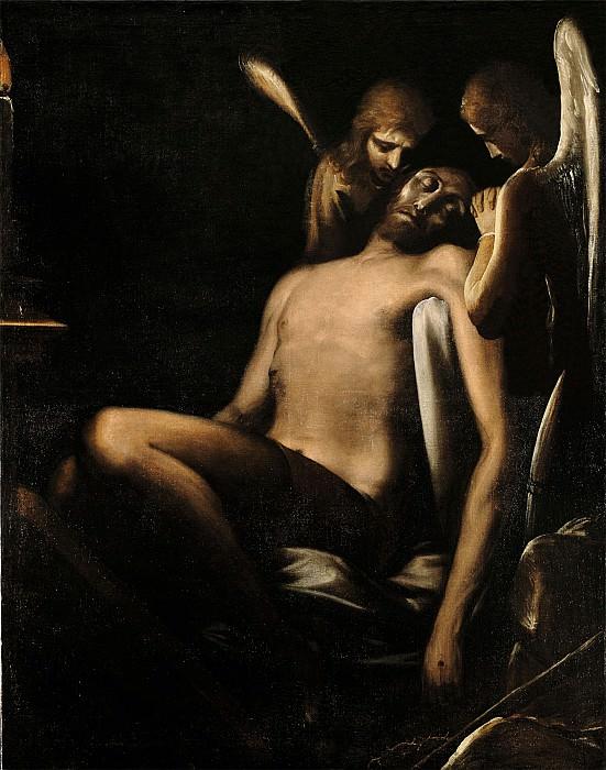 Luca Cambiaso Christ with Two Angels 16103 203. часть 4 -- European art Европейская живопись