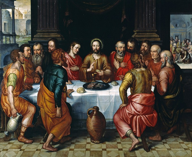 Pieter Jansz Pourbus The Last Supper 67999 321. часть 4 -- European art Европейская живопись
