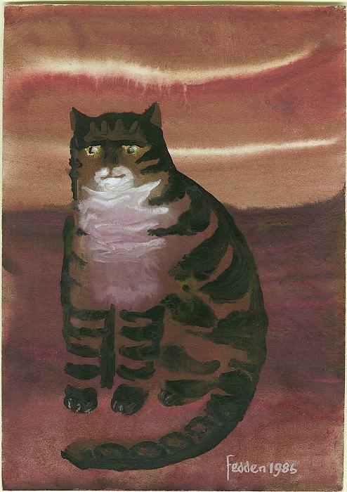 Mary Fedden A tabby cat 98159 20. часть 4 -- European art Европейская живопись