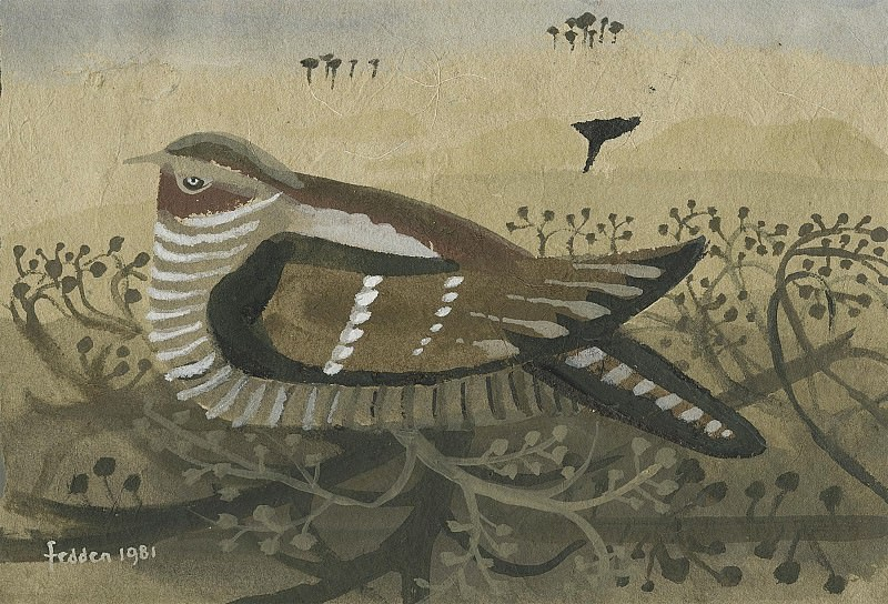 Mary Fedden Nightjar in a hedge 98320 20. часть 4 -- European art Европейская живопись
