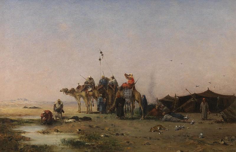 Narcisse BERCHERE The Halt 79139 121. часть 4 - европейского искусства Европейская живопись