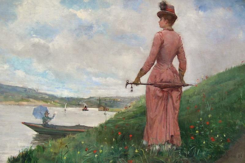 Paul Charles CHOCARNE MOREAU Г‰lГ©gante Г lombrelle 97639 617. часть 4 -- European art Европейская живопись