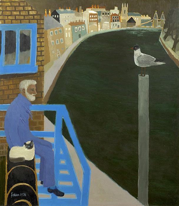 Mary Fedden Julian by the River Thames 98299 20. часть 4 - европейского искусства Европейская живопись