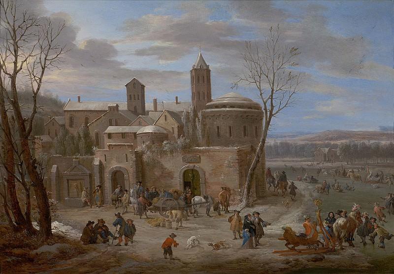 Peeter Bout A winter landscape with figures 8859 20. часть 4 -- European art Европейская живопись