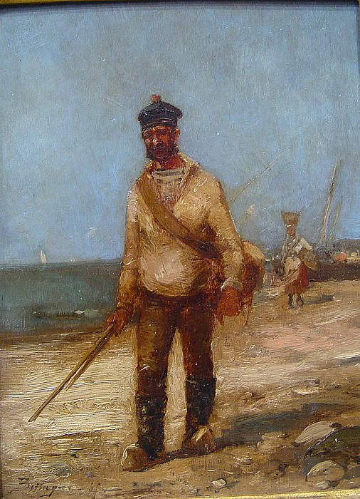 Paul Bistagne The fisherman 36892 3306. часть 4 -- European art Европейская живопись