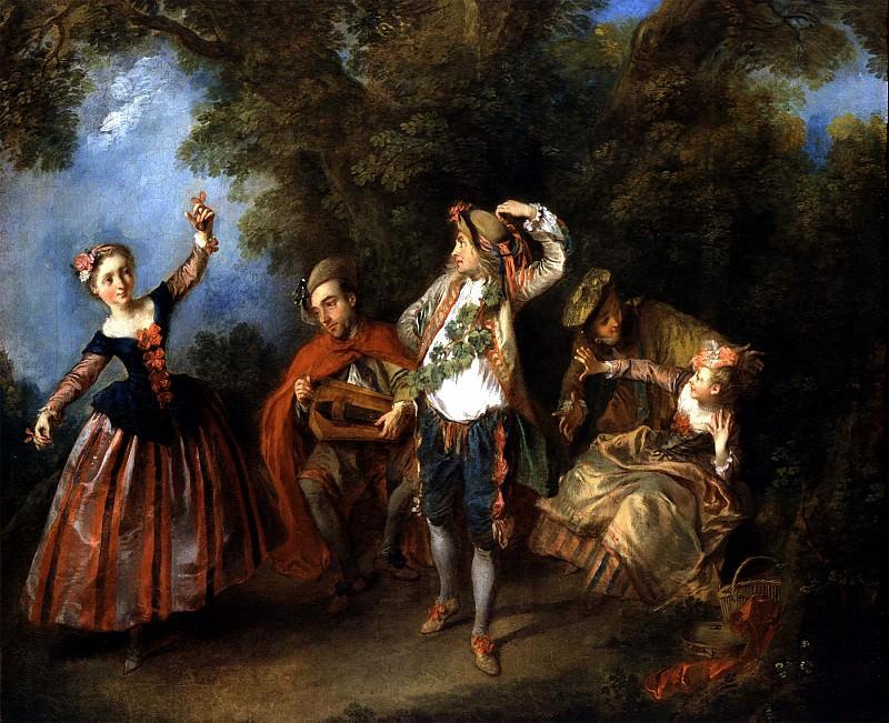 NICOLAS LANCRET Le Menuet 11658 172. часть 4 -- European art Европейская живопись