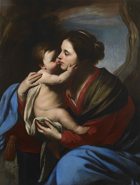 Massimo Stanzione The Virgin and Child 27776 203. часть 4 -- European art Европейская живопись