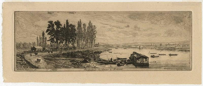 Maxime Lalanne Les Bords de la Seine Г Bezons 1869 122940 1124. часть 4 -- European art Европейская живопись