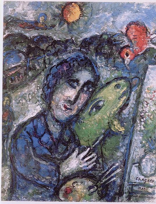 Marc CHAGALL Le peintre Г la chГЁvre verte 41077 1146. часть 4 -- European art Европейская живопись